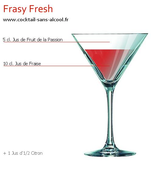 cocktail sans alcool frasy fresh recette conseils et. Black Bedroom Furniture Sets. Home Design Ideas